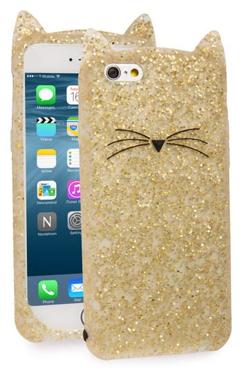 kate spade new york glitter cat iPhone 6/6s case