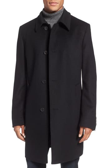 BOSS The Task Wool & Cashmere Overcoat