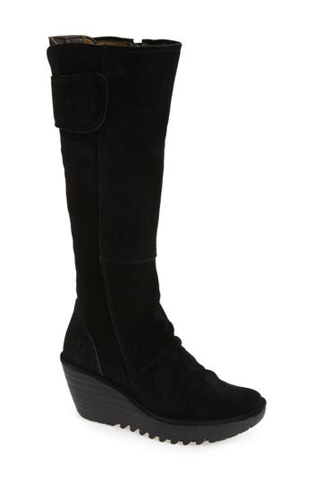 Fly London 'Yulo' Knee High Wedge Platform Boot (Women)