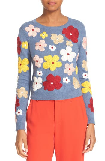 Alice + Olivia Lucca Embroidered Pullover