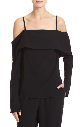 Tibi V-Back Off the Shoulder Top