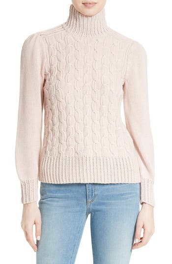 La Vie Rebecca Taylor Cable Knit Turtleneck Sweater