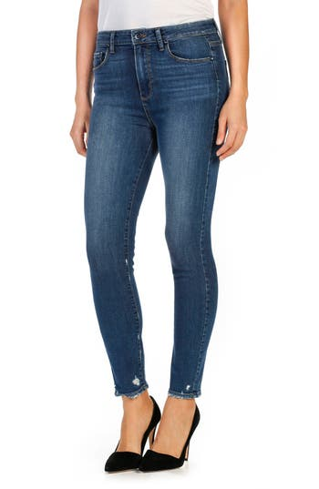 PAIGE Margot High Waist Ankle Skinny Jeans (Nash)