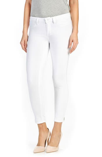PAIGE Roxxi High Waist Ankle Skinny Jeans (Ultra White)