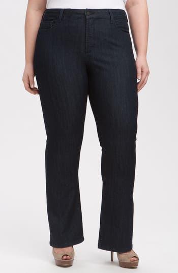 NYDJ 'Barbara' Stretch Bootcut Jeans (Dark Enzyme) (Petite Plus Size)