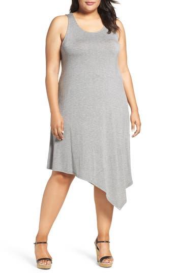 Sejour Asymmetrical Jersey Midi Dress (Plus Size)