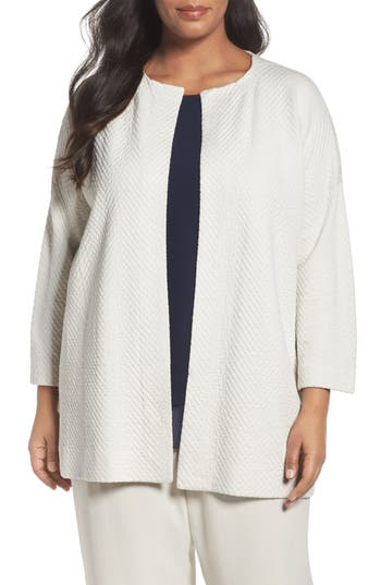 Eileen Fisher Silk Blend A-Line Jacket (Plus Size)