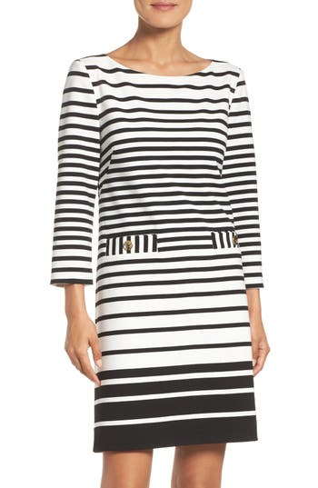 Eliza J Stripe Shift Dress