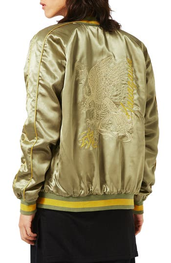 Topman Embroidered Python Souvenir Jacket