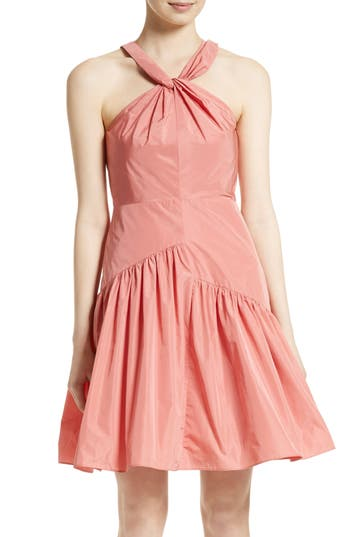 Rebecca Taylor Knot Neck Taffeta Dress