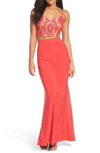 Adrianna Papell Two-Piece Gown