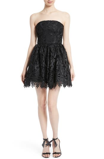 Alice + Olivia Daisy Strapless Lace Dress