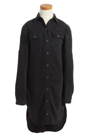 SP Black Chambray Shirtdress (Big Girls)