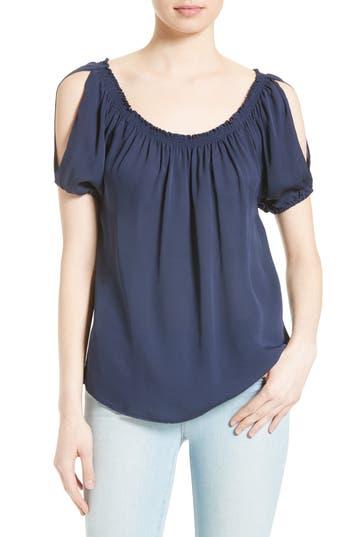 Joie Kendal Slit Sleeve Silk Off the Shoulder Top