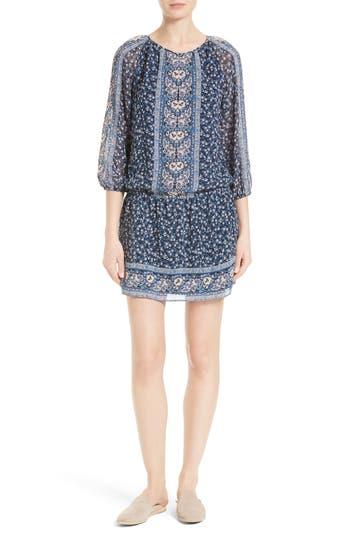 Joie Ariella Print Silk Drop Waist Dress