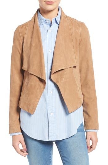 Cole Haan Cascade Collar Suede Jacket