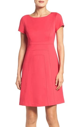 Adrianna Papell Ponte Fit & Flare Dress