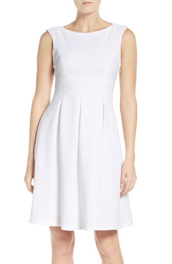 Adrianna Papell Pleated Fit & Flare Dress