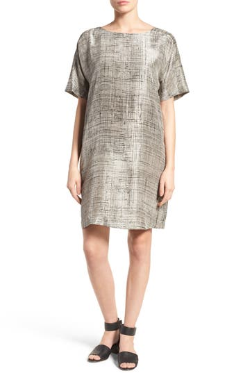 Eileen Fisher Silk Shift Dress