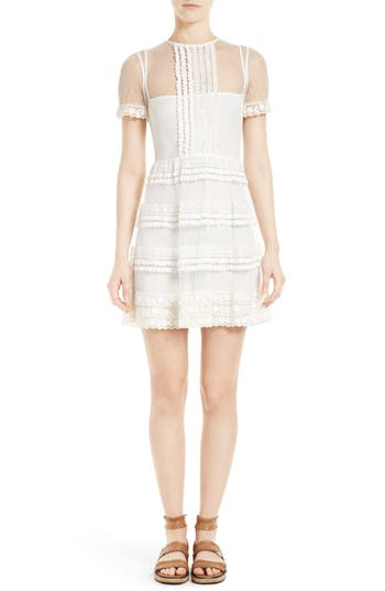 RED Valentino Lace & Point d'Esprit Dress
