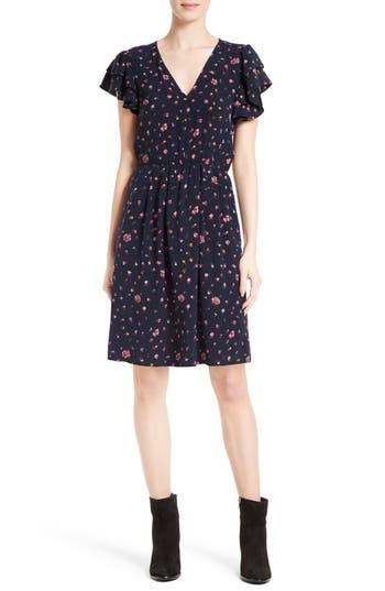 Rebecca Taylor Mia Floral Stretch Silk Dress