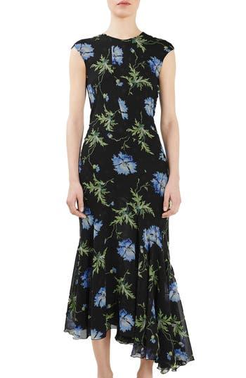 Topshop Unique Evelyn Silk Midi Dress