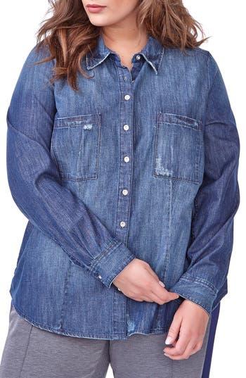 ADDITION ELLE LOVE AND LEGEND Denim Shirt (Plus Size)