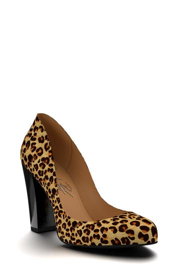 Shoes of Prey Leopard Genuine Calf Hair Pump (Women)