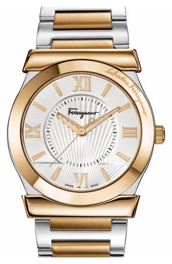 Salvatore Ferragamo 'Vega' Bracelet Watch, 38mm
