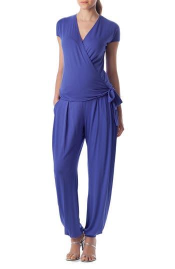 PIETRO BRUNELLI 'Billie' Wrap Front Maternity Jumpsuit