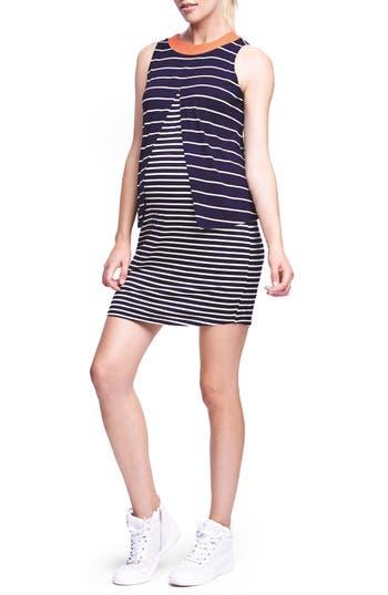 The Urban Ma Stripe Draped Sleeveless Maternity Dress