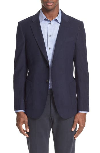 Armani Collezioni Trim Fit Techno Velvet Sport Coat