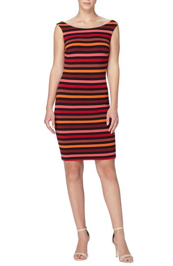 Catherine Catherine Malandrino 'Christel' Stripe Off the Shoulder Body-Con Dress