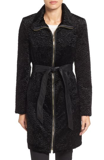 Ellen Tracy Textured Trench Coat