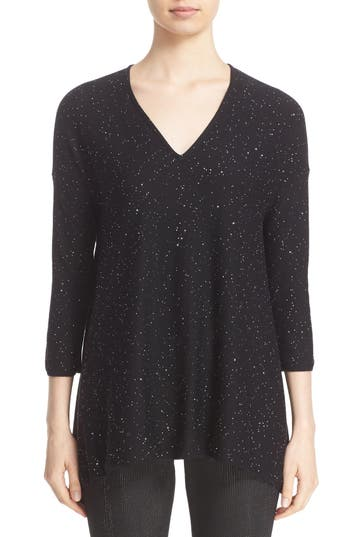 St. John Collection Bristol Sequin Embellished Wool Blend Sweater