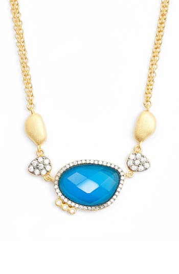 FREIDA ROTHMAN Baroque Blues Pendant Necklace