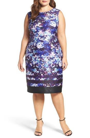 Adrianna Papell Neoprene Sheath Dress (Plus Size)