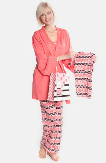 Olian Four-Piece Maternity Sleepwear Gift Set
