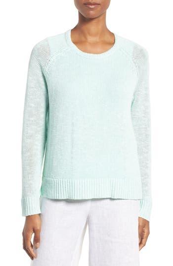 Eileen Fisher Slubbed Organic Linen & Cotton Sweater (Regular & Petite)