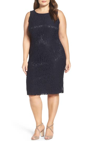 Persona by Marina Rinaldi Lace Sheath (Plus Size)