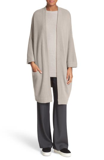 Vince Open Front Cashmere Knit Coat