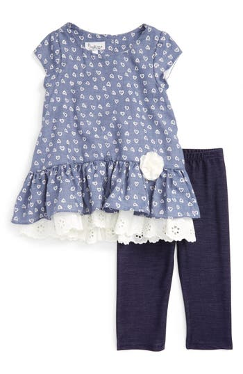 Pippa & Julie Peplum Tunic & Leggings Set (Toddler Girls & Little Girls)