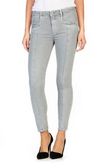 PAIGE Roxxi High Waist Seamed Ankle Skinny Jeans