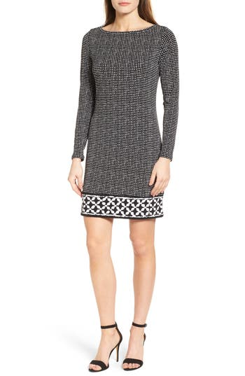 MICHAEL Michael Kors Nezla Border Print Jersey Shift Dress