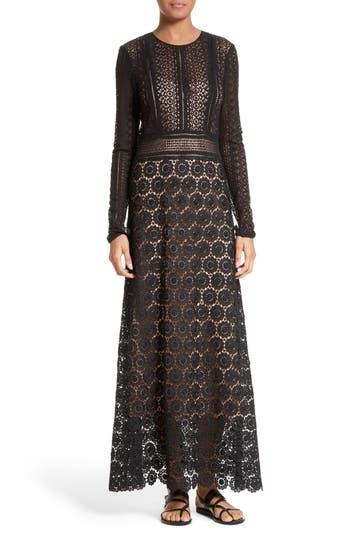 Theory Rabella Daisy Lace Maxi Dress