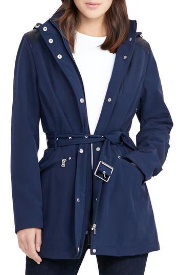 Lauren Ralph Lauren Belted Hooded Soft Shell Jacket