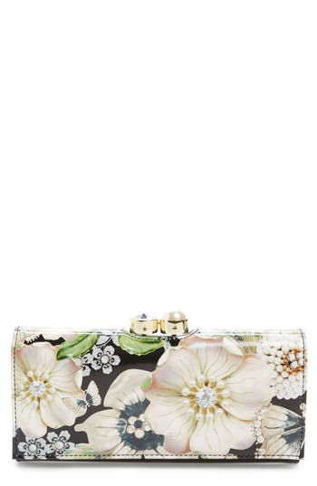 Ted Baker London Gem Gardens Leather Matinée Wallet