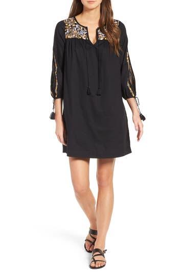 Madewell Embroidered Slit Sleeve Dress