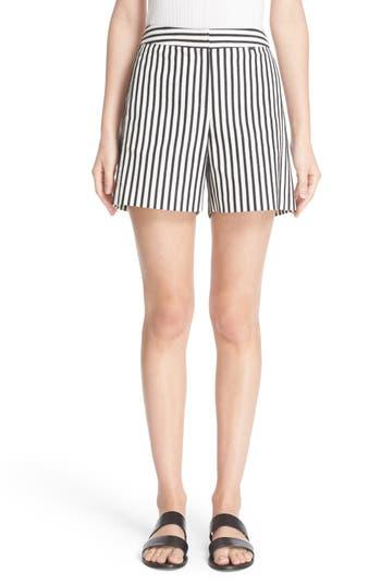 St. John Sport Collection Cabana Stripe Denim Shorts