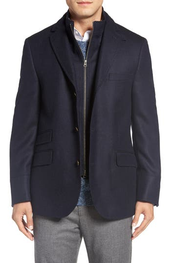 FLYNT Regular Fit Hybrid Wool & Cashmere Coat
